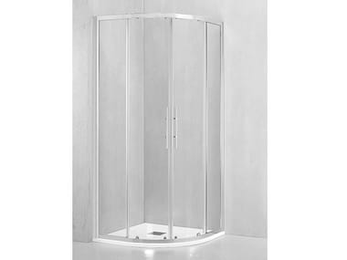 Box doccia angolare semicircolare con porta scorrevole DM-T55