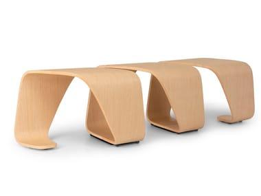 Modular multi-layer wood bench DNA | Bench