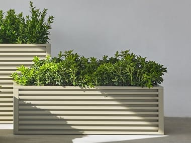 Rectangular aluminium planter DNA | Rectangular planter