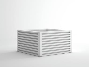 Fioriera quadrata in alluminio DNA | Fioriera quadrata