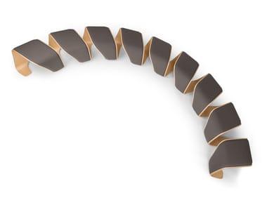 Banco estofado modular de madeira DNA   Banco
