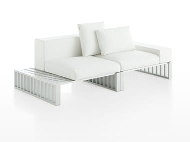 Sectional modular aluminium sofa DOCKS