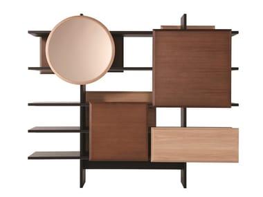Freestanding double-sided bookcase DOJO