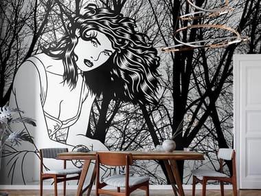 Papel de parede pop art de tecido não tecido DOLCE ATTESA