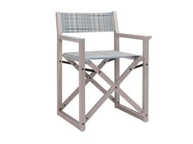 Open back beech garden chair DOLCEVITA REGISTA TSPO01 | Chair with armrests