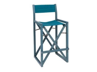 High folding beech garden stool DOLCEVITA REGISTA TSSG01