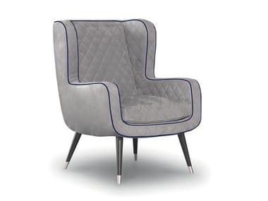 Leather armchair with armrests DOLLY | Armchair