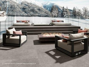 Outdoor floor tiles with stone effect DOLMEN PRO | Outdoor floor tiles