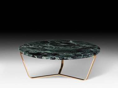 Low round coffee table DOLOMITI | Marble coffee table