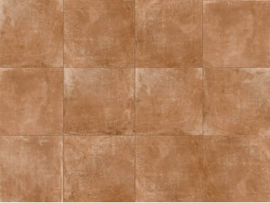 Porcelain stoneware outdoor floor tiles with terracotta effect DOLOMITI COTTO