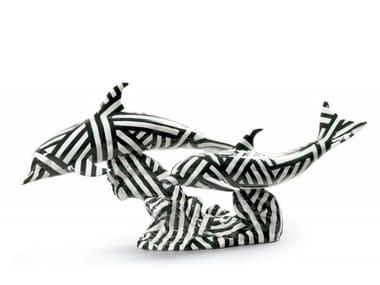 Porcelain decorative object DOLPHINES' DANCE