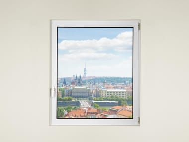 Finestra in alluminio e vetro con doppio vetro DOMAL TOP TB75