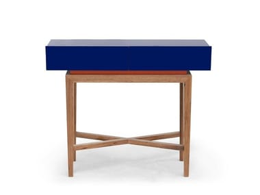 Lacquered rectangular walnut console table DOMINICAL