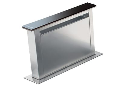 Slide-out Glass and Stainless Steel downdraft DOMINO 4000 GHOST C/VTR TOUCH