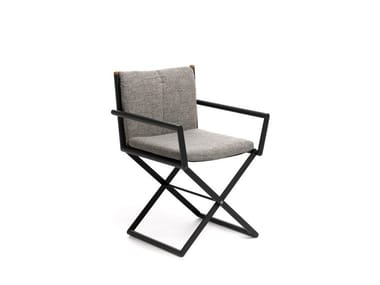 Folding garden chair with armrests DOMINO | Folding chair