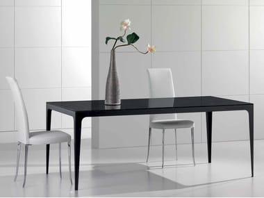 Rectangular Dark Emperador marble table DOMINO