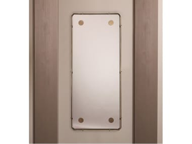 Rectangular framed wall-mounted brass mirror DOMINO   Mirror