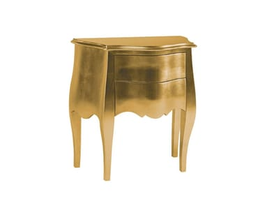 Lacquered bedside table with drawers DOMUS   Bedside table