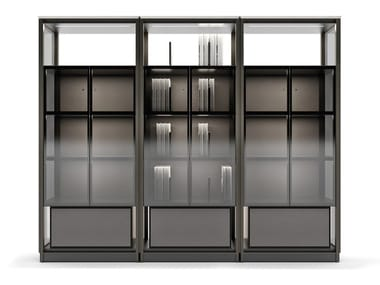 Sectional bookcase with built-in lights DOMUS | Bookcase