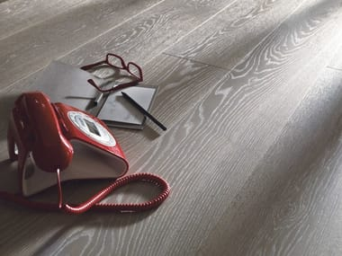 Prefinished brushed European Oak parquet, 2 layers DOMUS | Wooden parquet