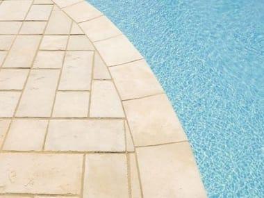 Reconstructed stone Pool edging DOMUS | Pool edging