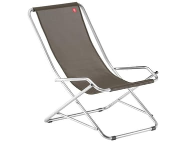 Folding Deck Chair With Armrests Dondolina