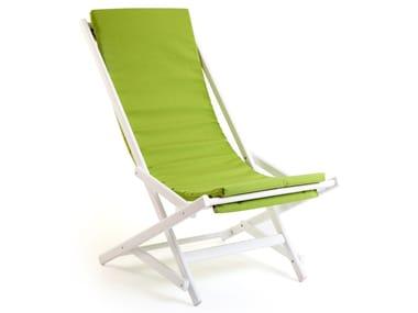 Folding beech deck chair DONDOLINA