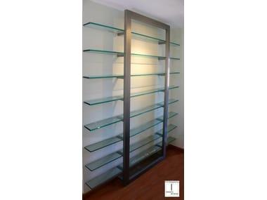 Wall-mounted metal bookcase DOOR