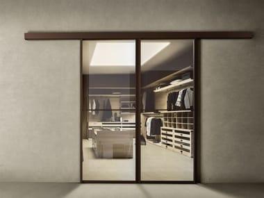 Glass and aluminium sliding door DOORS
