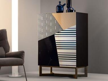 Wooden highboard with doors DOPPLER   Highboard