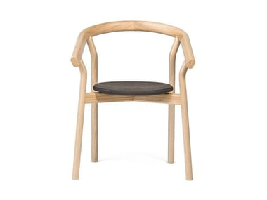 Ash chair with armrests DORA