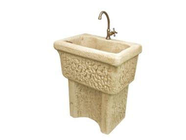 Lavello a muro in pietra ricostruita DORDOGNA
