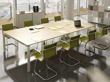 Rectangular meeting table with cable management DORIA | Rectangular meeting table