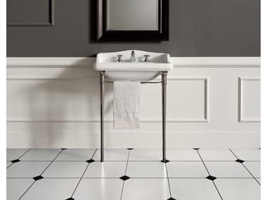 Console washbasin with towel rail DOROTHY | Console washbasin