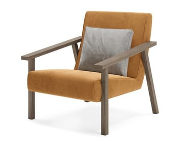 Velvet armchair with armrests DORSEY | Armchair