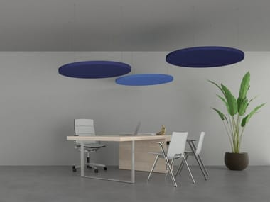 Sound-absorbing ceiling DOT | Hanging acoustic panel