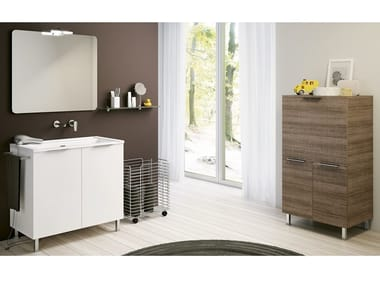 Laundry room cabinet with sink DOUBLE 06