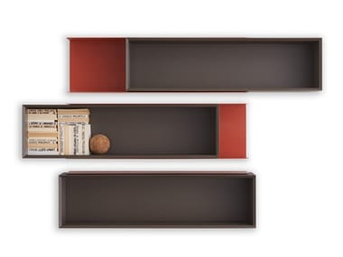 Horizontal plate wall cabinet with sliding doors DOUBLE ME