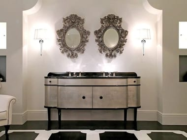 Double vanity unit with doors DOUBLE MUSIC