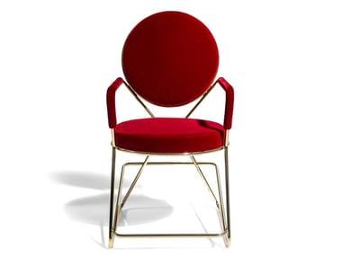 Chaise rembourrée avec accoudoirs DOUBLE ZERO   Chaise