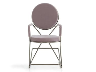 Sedia imbottita con braccioli DOUBLE ZERO | Sedia con braccioli