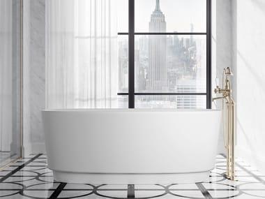 Oval White Tec Plus bathtub DOVE | Oval bathtub