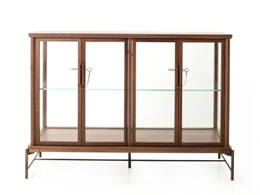 Wood veneer display cabinet DOWRY CABINET I
