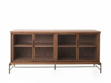 Wood veneer display cabinet DOWRY CABINET II