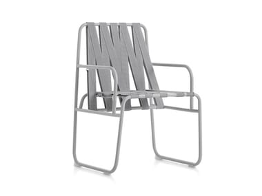Garden chair with armrests DOZEQUINZE | Chair with armrests