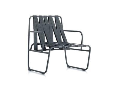 Garden easy chair with armrests DOZEQUINZE | Easy chair with armrests