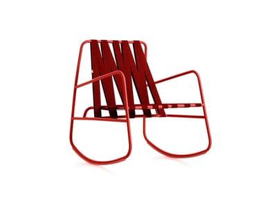 Rocking garden chair with armrests DOZEQUINZE | Rocking chair