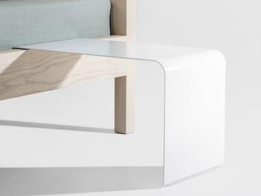 Powder coated steel bedside table DOZY
