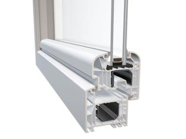 Finestra a taglio termico in alluminio e PVC DQG 70