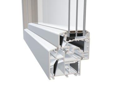 Finestra in PVC con triplo vetro DQG 85 ENERGETO